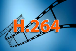 H.264 video compression reduces storage requirements