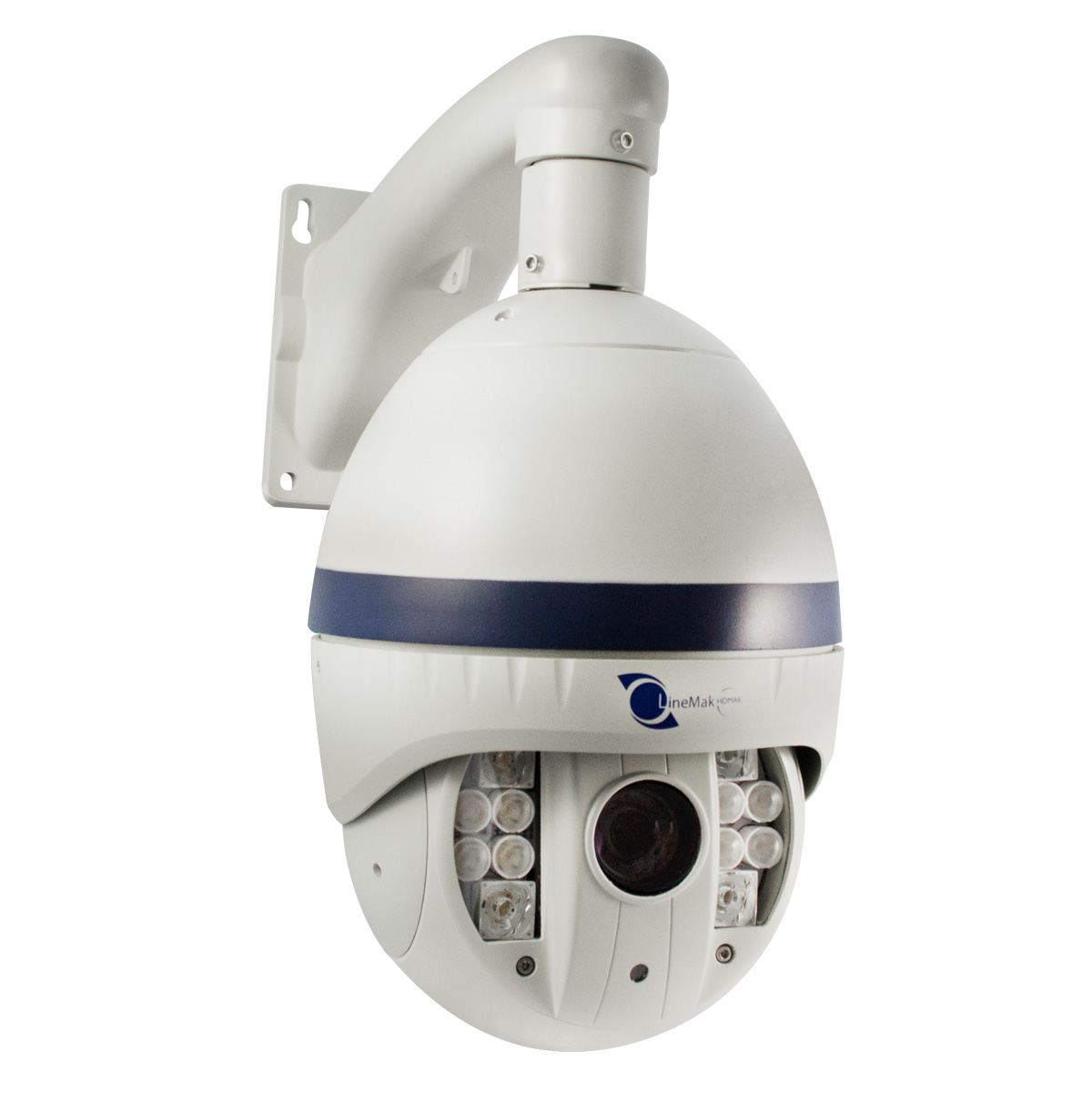 Linemak HD-MAK IP PTZ camera 1/2.8 SONY CCD 2MP 12 LED IP66 IK6 PoE