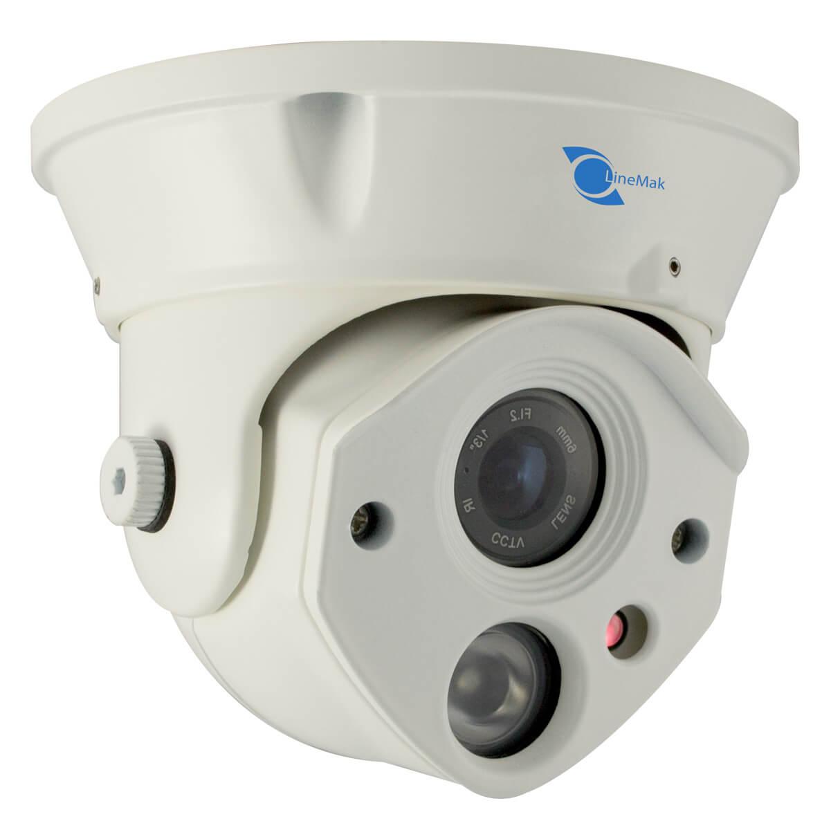 Vandalproof Dome camera, SONY CCD Sensor 700TVL, 6mm lens, 1 LED Arra