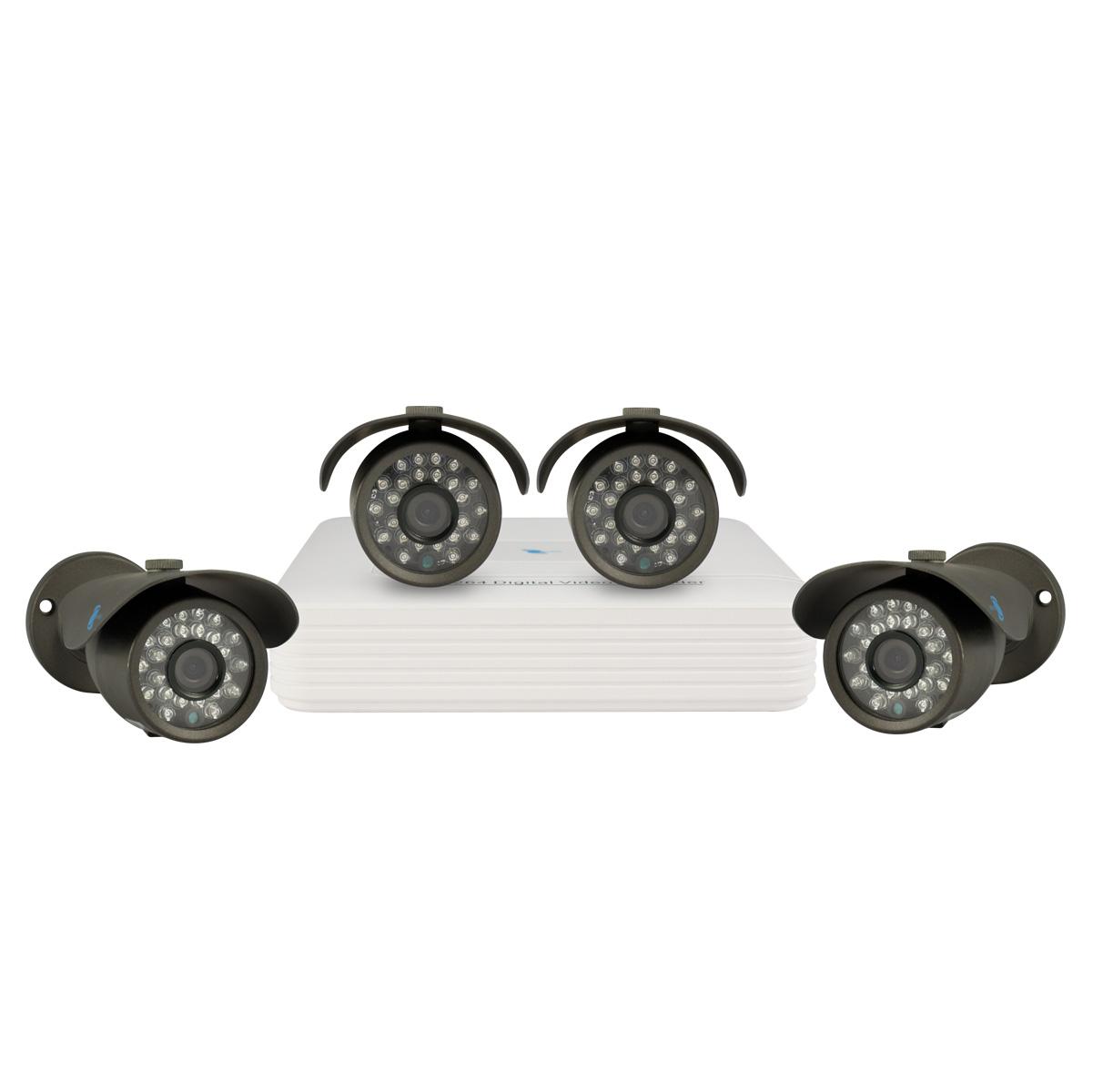 Kit of 4 cameras, SONY CCD Sensor, 700TVL, OSD menu, H264/G711A, D1