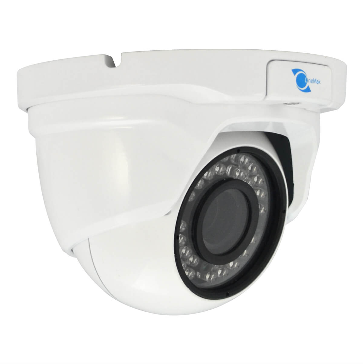 Vandalproof Dome camera, 1/2.8 HDIS Color CMOS Sensor, 1200TVL, 3.6mm