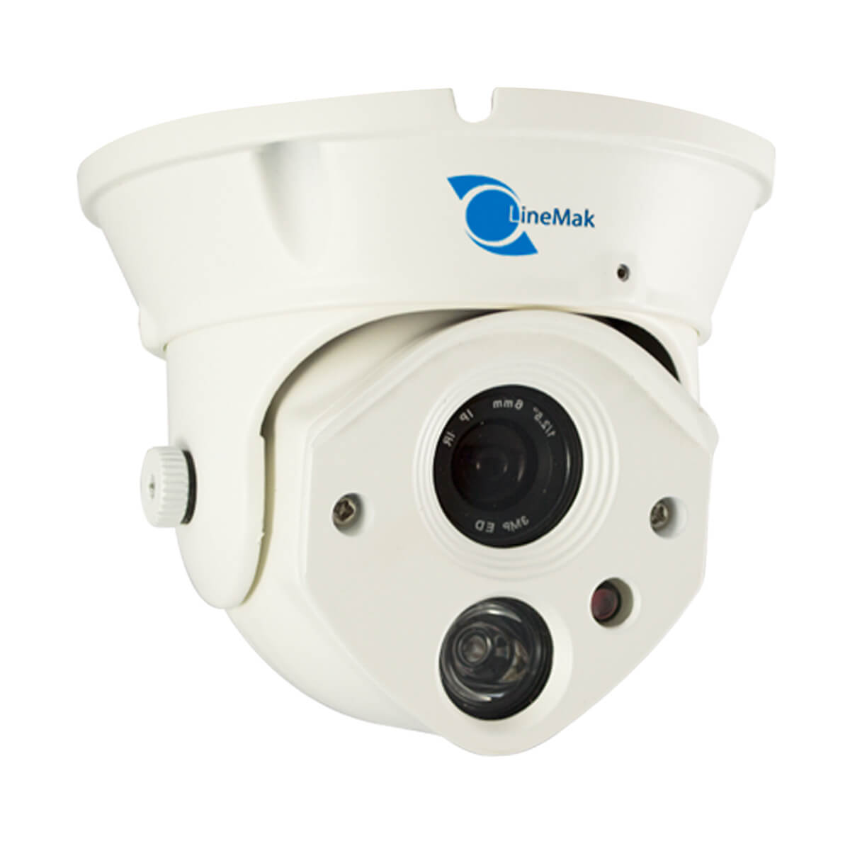 Vandalproof Dome camera, HDIS CMOS Sensor, 1200TVL, 6mm lens, 1 LED.