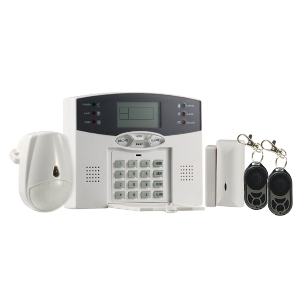 Central Wireless/full wired alarm, LCD display
