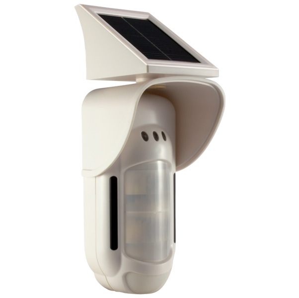 Motion Detector outdoor with solar panel, IR/MW, Wireless/Wired