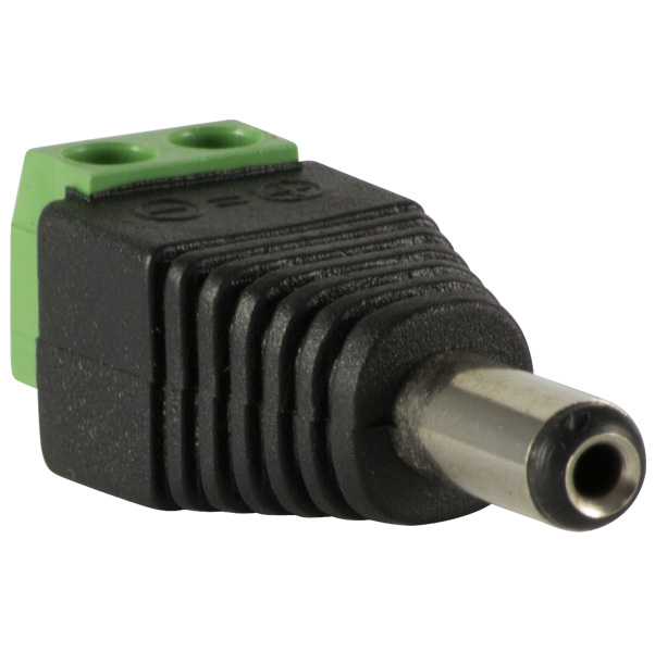 Plug connector power supply male