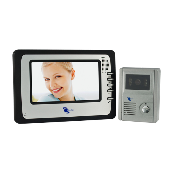 Video intercom system with LCD screen containing microphone 380TVL