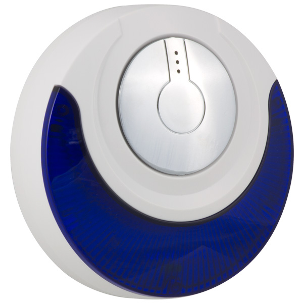 Wireless siren with audio/light indoor/outdoor