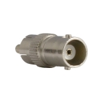 BNC connector female to RCA male stainless steel.
